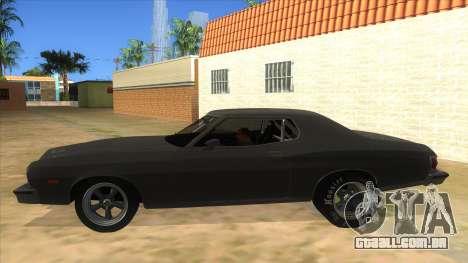 Ford Gran Torino Drag para GTA San Andreas esquerda vista