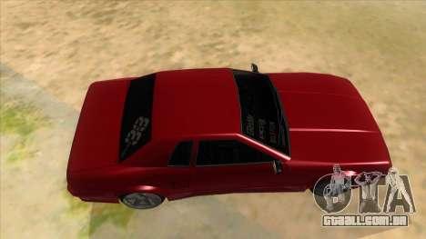 GTR Elegy para GTA San Andreas vista interior