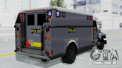 Indonesian Police BRIMOB Enforcer para GTA San Andreas esquerda vista