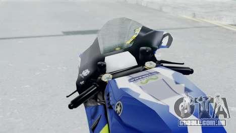 Yamaha YZR M1 2016 para GTA San Andreas vista traseira