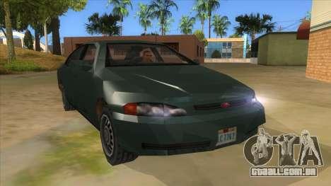 GTA LCS KURUMA para GTA San Andreas vista traseira