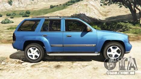 GTA 5 Chevrolet TrailBlazer vista lateral esquerda