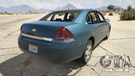 GTA 5 Chevrolet Impala traseira vista lateral esquerda