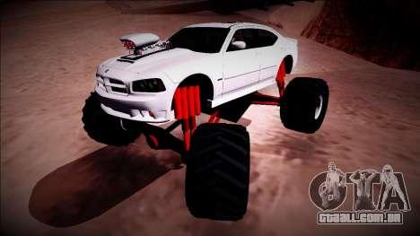 2006 Dodge Charger SRT8 Monster Truck para GTA San Andreas vista superior