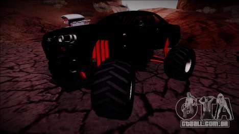 Nissan Skyline R34 Monster Truck para GTA San Andreas vista interior
