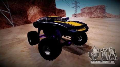 GTA 5 Imponte Phoenix Monster Truck para GTA San Andreas vista interior