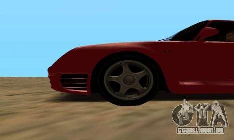 Porsche 959 para GTA San Andreas traseira esquerda vista
