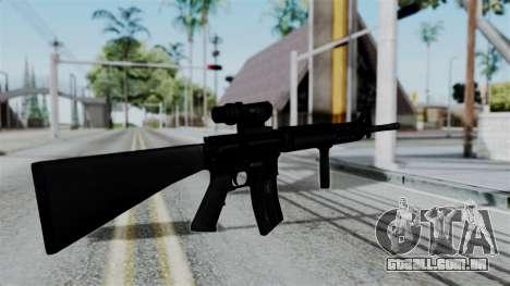 No More Room in Hell - M16A4 ACOG para GTA San Andreas terceira tela