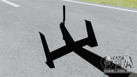 GTA 5 Super Volito Carbon para GTA San Andreas traseira esquerda vista