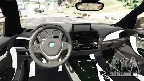 GTA 5 BMW M235i Coupe traseira direita vista lateral