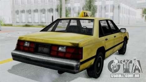 Taxi from GTA Vice City para GTA San Andreas vista direita
