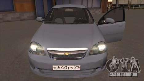 Chevrolet Lacetti Sedan para GTA San Andreas vista traseira