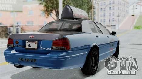 GTA 5 Vapid Stanier II Taxi IVF para GTA San Andreas esquerda vista