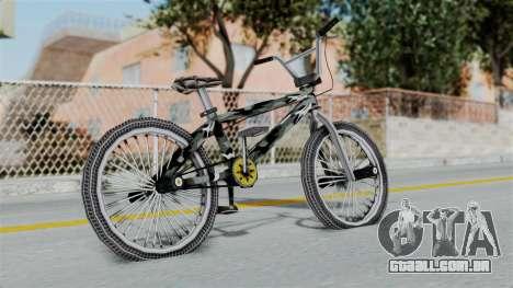 GTA 5 BMX Camo para GTA San Andreas traseira esquerda vista