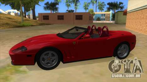 Ferrari 550 Barchetta Pinifarina US Specs 2001 para GTA San Andreas esquerda vista
