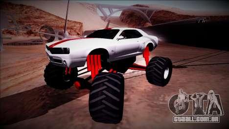 GTA 5 Bravado Gauntlet Monster Truck para vista lateral GTA San Andreas