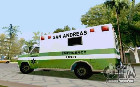 Journey Ambulance para GTA San Andreas vista direita