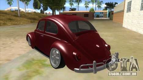 Volkswagen Beetle Aircooled V2 para GTA San Andreas traseira esquerda vista