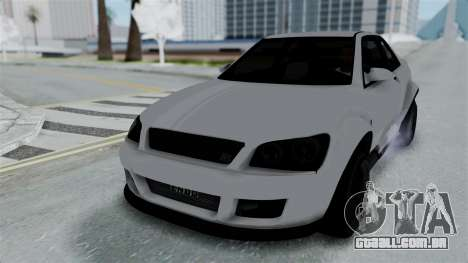 GTA 5 Karin Sultan RS Stock PJ para GTA San Andreas vista inferior