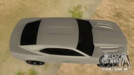 Chevrolet Camaro DOSH tuning MQ para GTA San Andreas vista interior