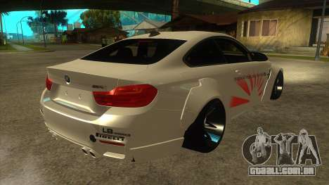 BMW M4 Liberty Walk Performance para GTA San Andreas vista direita
