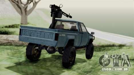 GTA 5 Karin Technical Machinegun IVF para GTA San Andreas esquerda vista