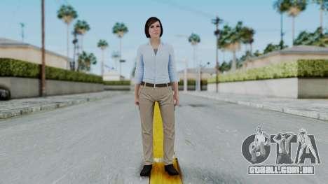 GTA 5 Karen Daniels Civil para GTA San Andreas segunda tela