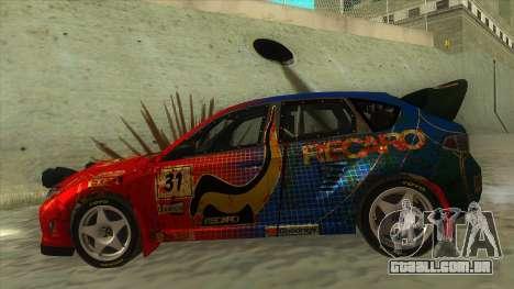 Subaru Impreza WRX STi 2011 ,,Response,, para GTA San Andreas esquerda vista