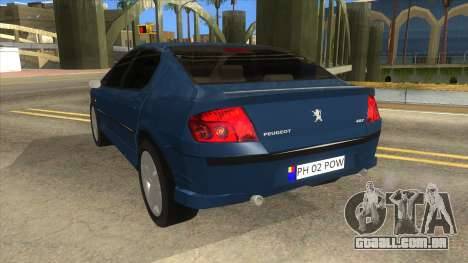 Peugeot 407 para GTA San Andreas traseira esquerda vista