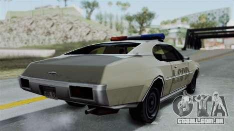 Police Clover para GTA San Andreas esquerda vista