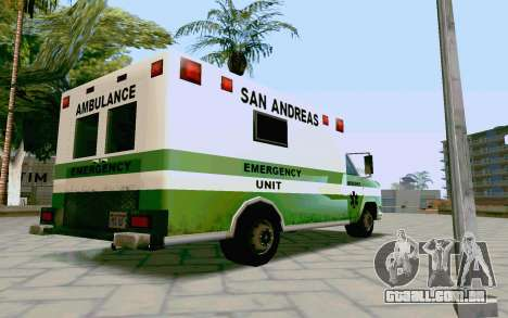 Journey Ambulance para GTA San Andreas esquerda vista