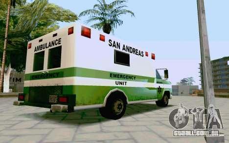 Journey Ambulance para GTA San Andreas esquerda vista