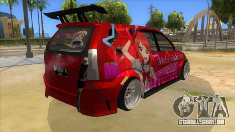 Toyota Avanza R9 Exhaust Nishikino Maki Itasha para GTA San Andreas vista direita
