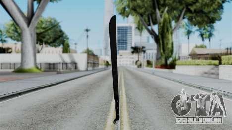 No More Room in Hell - Machete para GTA San Andreas segunda tela