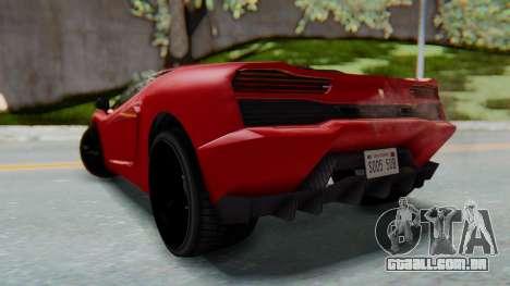 GTA 5 Pegassi Vacca SA Style para GTA San Andreas esquerda vista