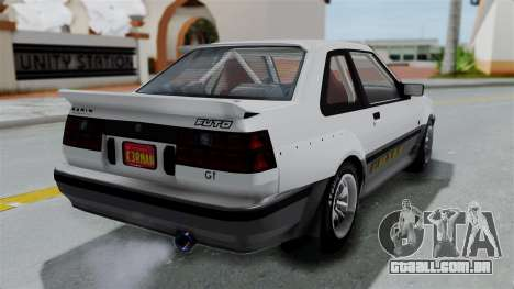 GTA 5 Karin Futo Rally Car v2.0 para GTA San Andreas esquerda vista
