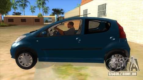 2005 Peugeot 107 V2 para GTA San Andreas esquerda vista
