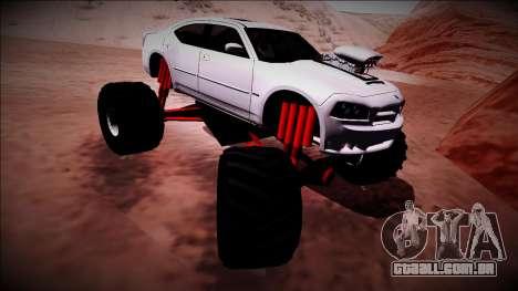 2006 Dodge Charger SRT8 Monster Truck para GTA San Andreas vista inferior