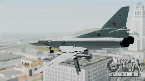 TU-22M3 Verde para GTA San Andreas vista direita