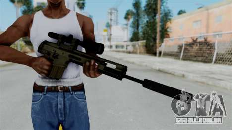 SCAR-20 v1 Folded para GTA San Andreas terceira tela
