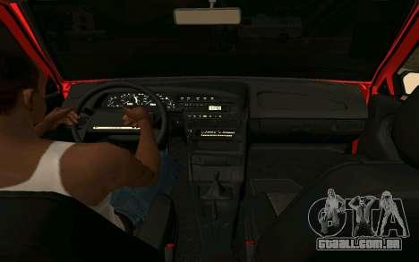 2109 Formação para GTA San Andreas traseira esquerda vista