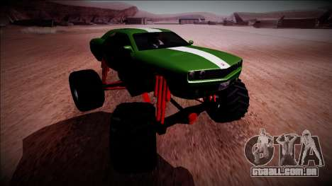GTA 5 Bravado Gauntlet Monster Truck para GTA San Andreas vista interior
