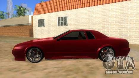 GTR Elegy para GTA San Andreas esquerda vista