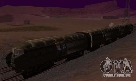 Batman Begins Monorail Train v1 para GTA San Andreas vista interior