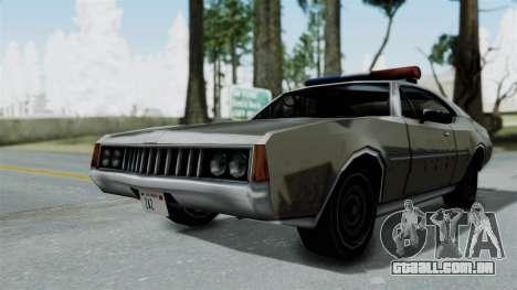 Police Clover para GTA San Andreas traseira esquerda vista