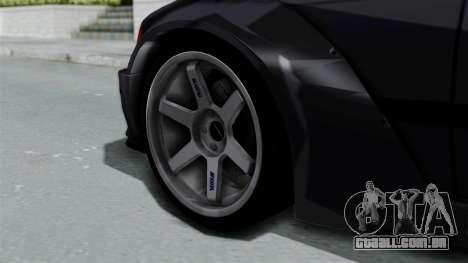 BMW M3 E36 Widebody para GTA San Andreas traseira esquerda vista