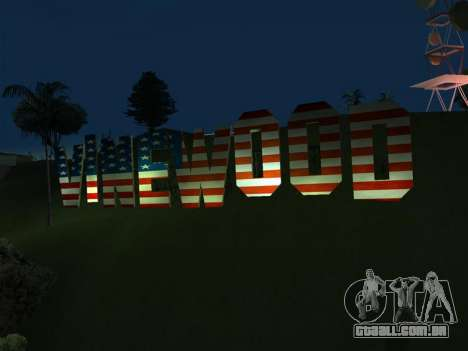 New Vinewood colors USA flag para GTA San Andreas segunda tela