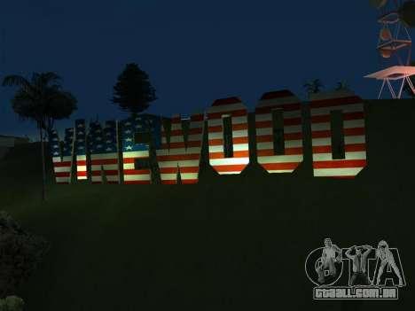 New Vinewood colors USA flag para GTA San Andreas segunda tela