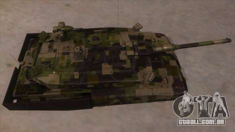 MBT52 Kuma para GTA San Andreas vista interior