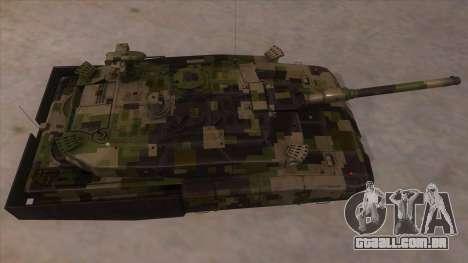 MBT52 Kuma para GTA San Andreas vista interior